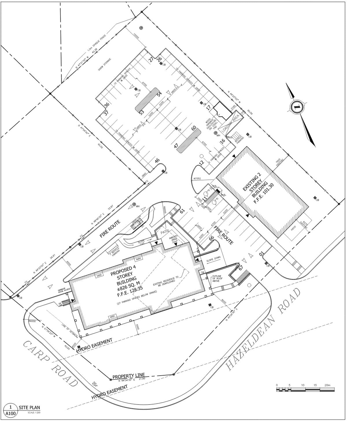 Proposed site plan for 1145 Carp Road (December 2018)