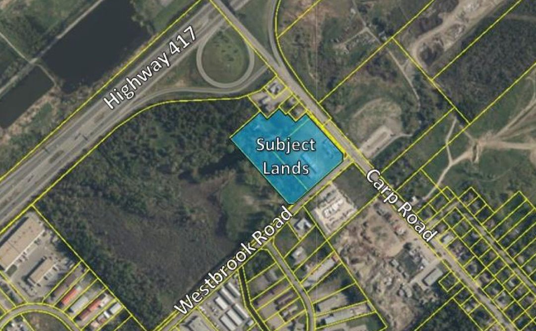 Site plan application for 2113 and 2125 Carp Road