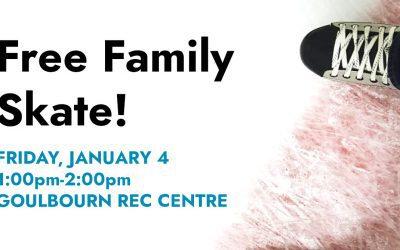 JAN 4: Free family skate