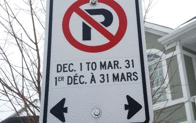 Seasonal winter parking restrictions are in effect