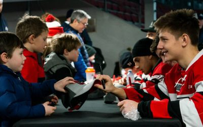 FEB 3: Ottawa 67's practice and autographs at Johnny Leroux Arena