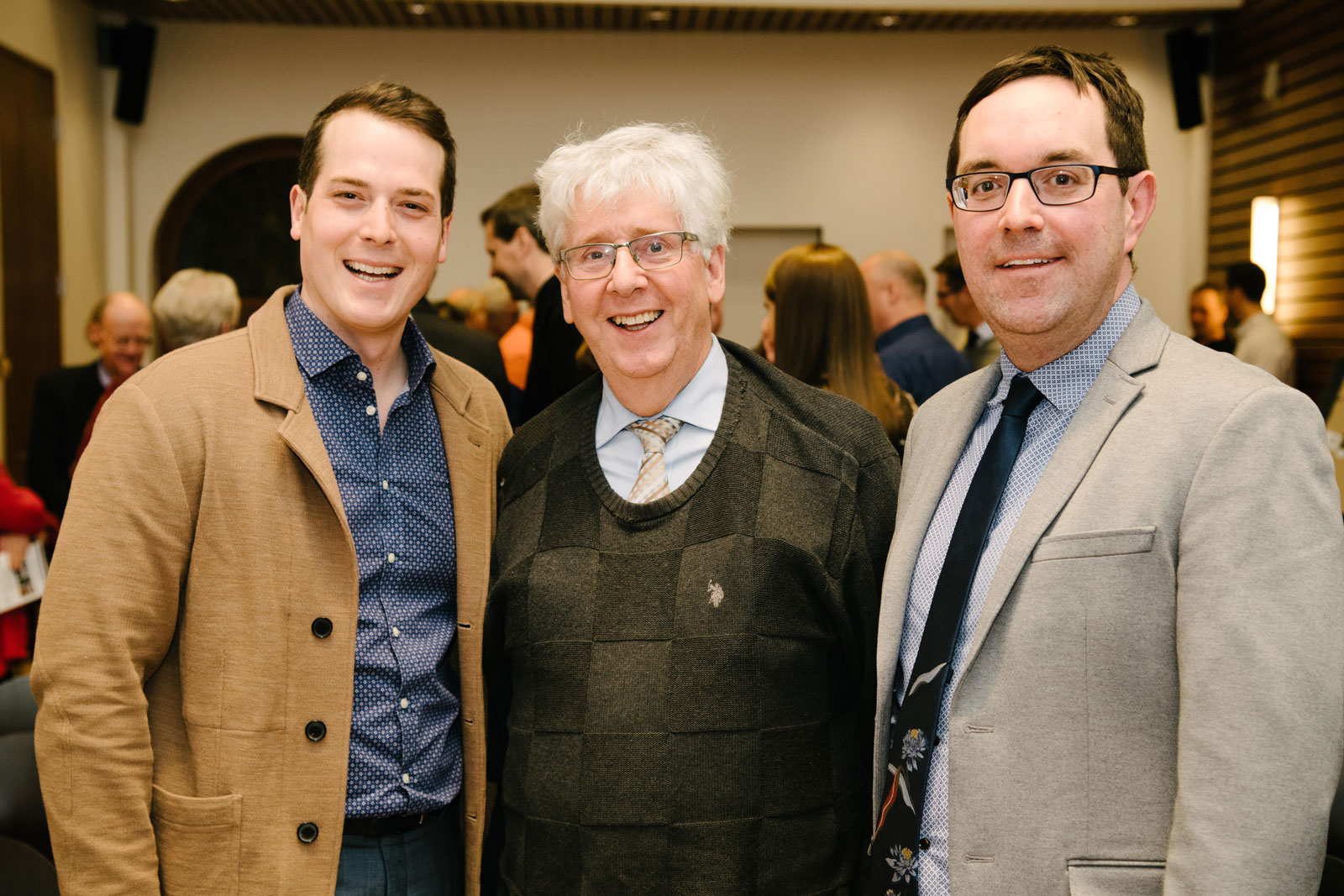 Councillor Mathieu Fleury, David Jeanes (Heritage Ottawa president) and Councillor Glen Gower. 2019 Heritage Awards. Photo credit: City of Ottawa