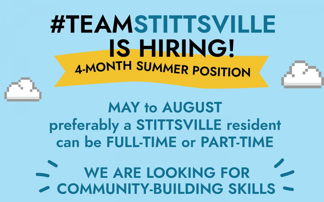 Make a difference in your city: 2019 summer position with #TeamStittsville