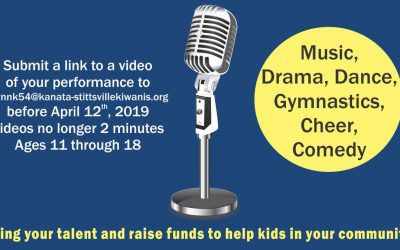 MAY 30: Kanata-Stittsville Kiwanis presents Kids for Kids Talent Showcase