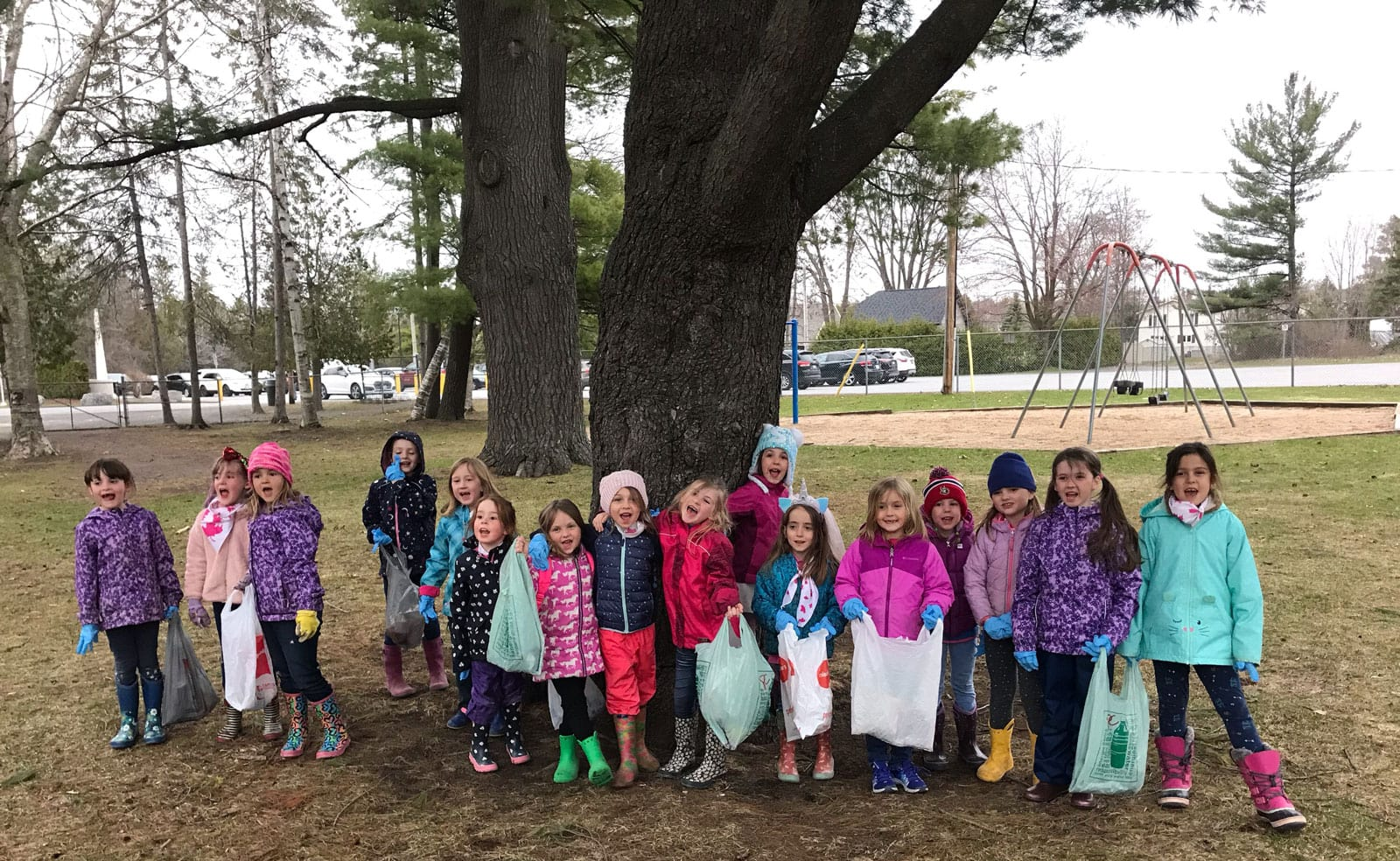 The 12th Stittsville Sparks helped to clean up at Alexander Grove.