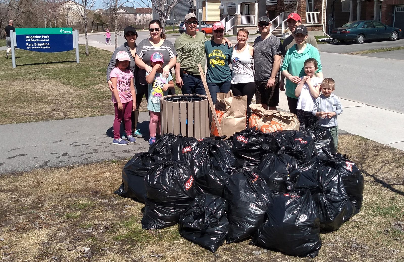 Cleaning up at Brigatine Park