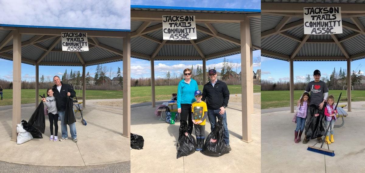 The Jackson Trails Community Association organized a clean-up at Pioneer Plains park