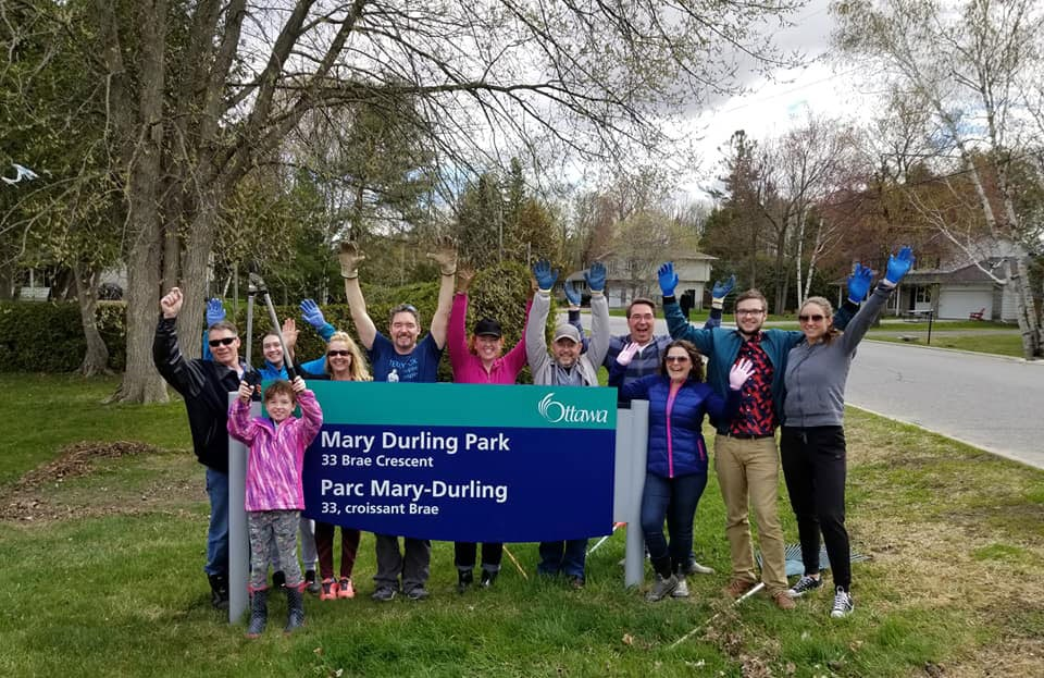 What a great Mother's Day tribute! The family of the late Mary Durling gathered today to clean up the park that bears her name.They collected 30 yard waste bags, 2 garbage bags and tied up 6 bundles of twigs and branches. Thanks to the Durling family!
