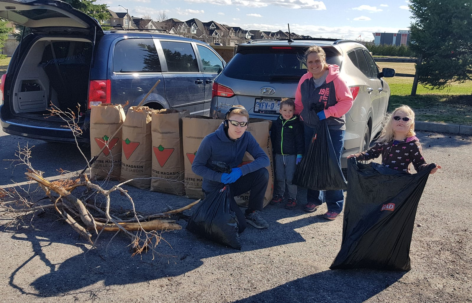 Cleaning up at Trustee M. Curry Park