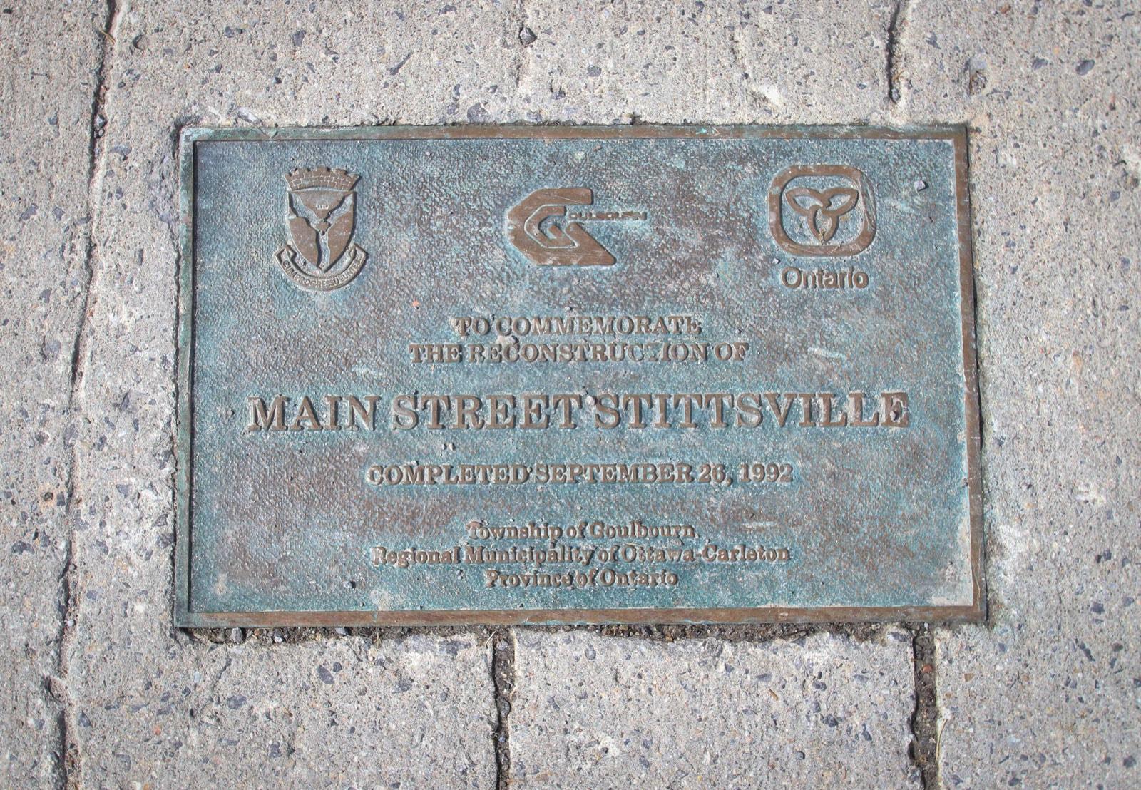 Stittsville Main Street marker