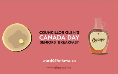 JULY 1: Councillor Glen's Canada Day Seniors Breakfast