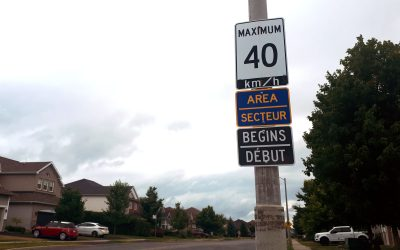 West Ridge area gets new Area Speed Limit signs