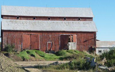 Upcoming foundation repair work on the Bradley-Craig barn