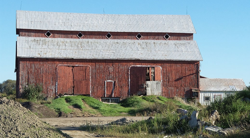 Upcoming foundation repair work on the Bradley-Craig barn