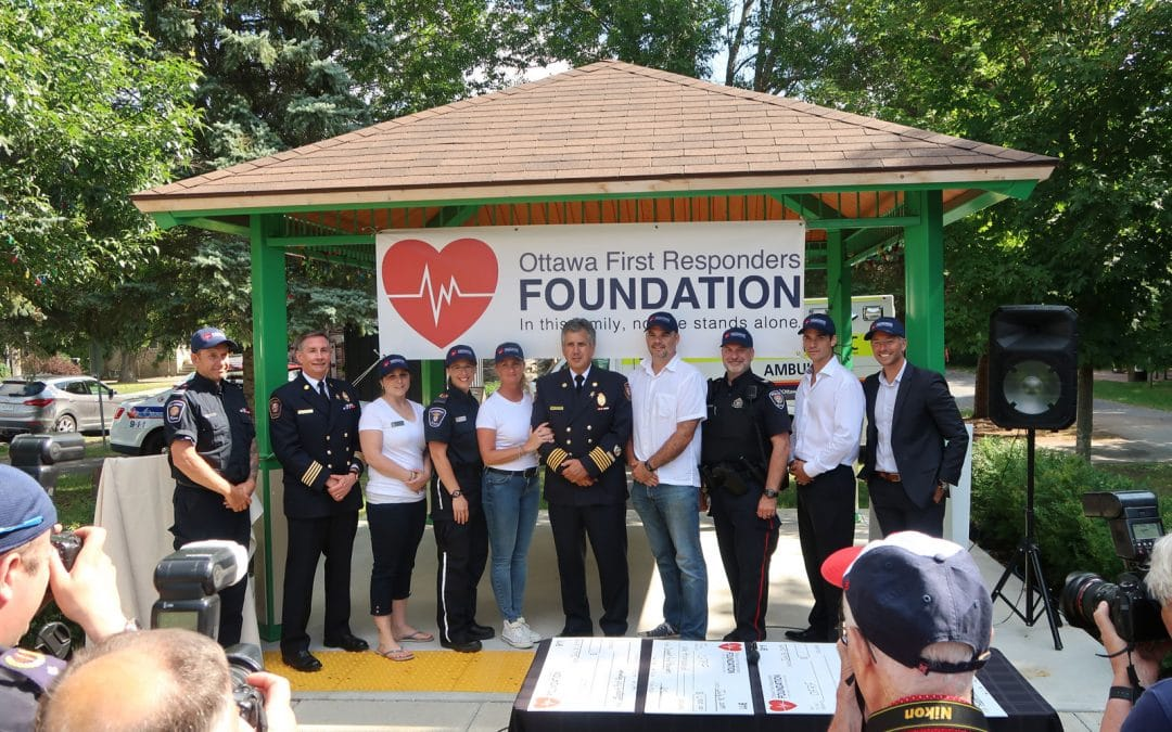 Celebrating the launch of the Ottawa First Responders Foundation