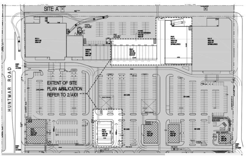 Proposed site plan for Phase 4 of 5705 Hazeldean Road