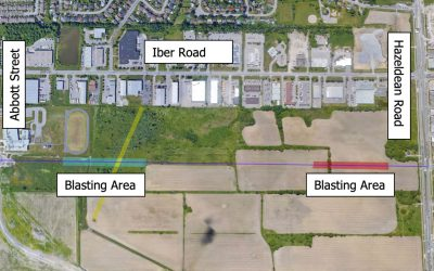 Blasting planned east of Iber Road over the next three weeks