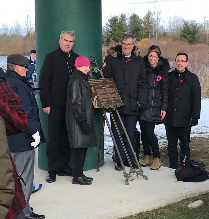 Unveiling of the Juno Beach Memorial Bridge - November 8, 2019