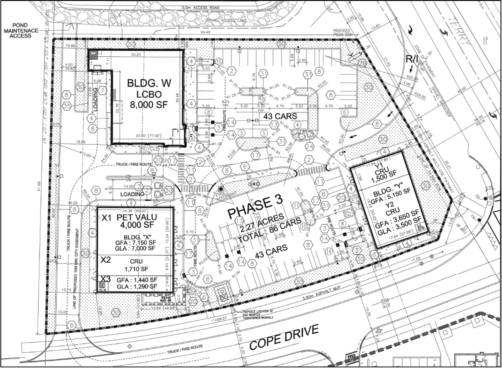 Proposed site plan for 1140 Terry Fox