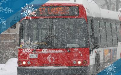 OC Transpo winter service changes begin January 5