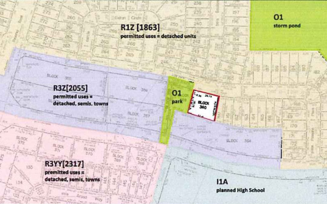 Zoning by-law amendment application for 840 Paseana Place