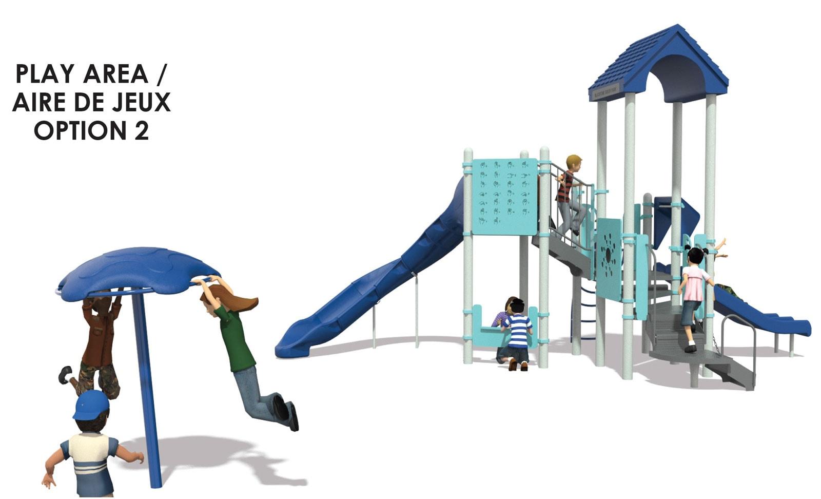 Atlas Park - playground option 2