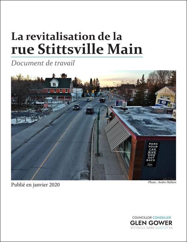 La revitalization de la rue Stittsville Main - document de travail - janvier 2020