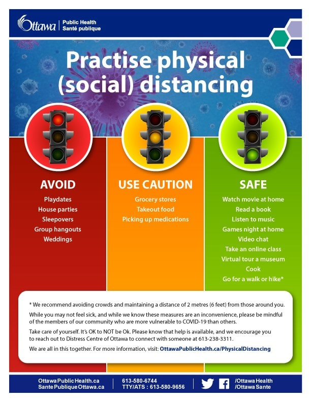 Practise physical distancing