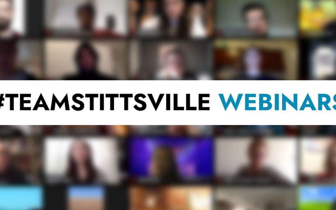 Upcoming #TeamStittsville webinars