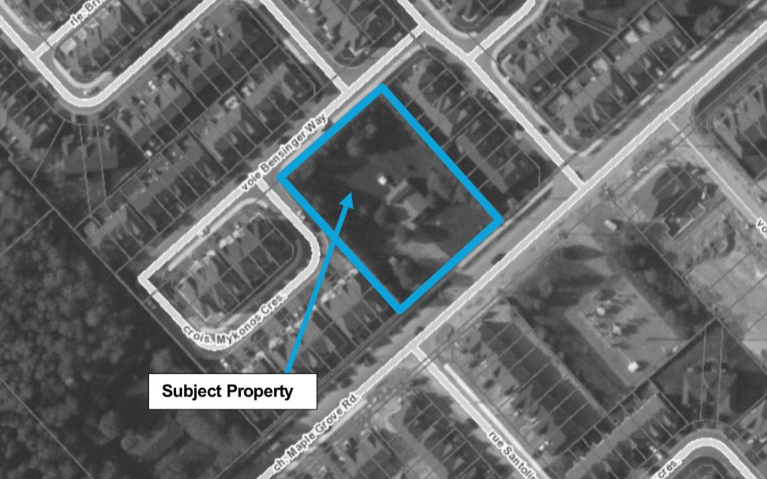 New homes proposed for 1869 Maple Grove Road
