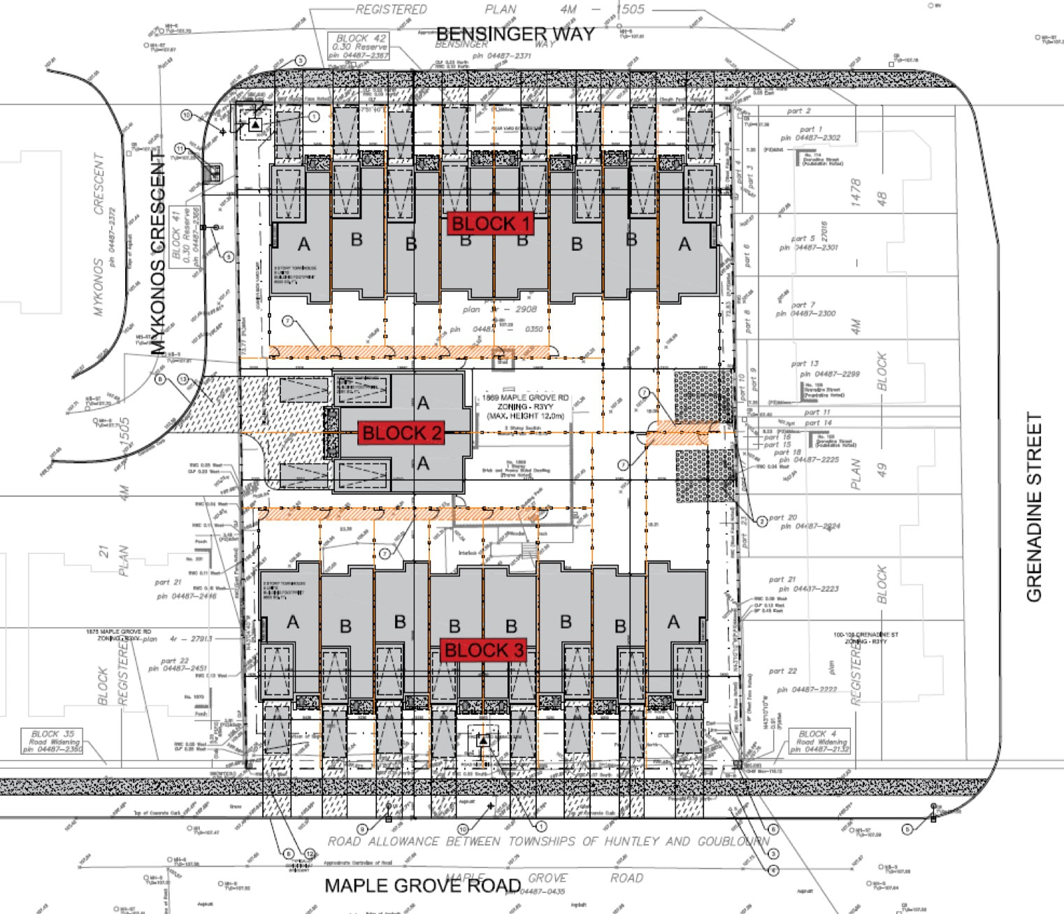 1869 Maple Grove plan of subdivision