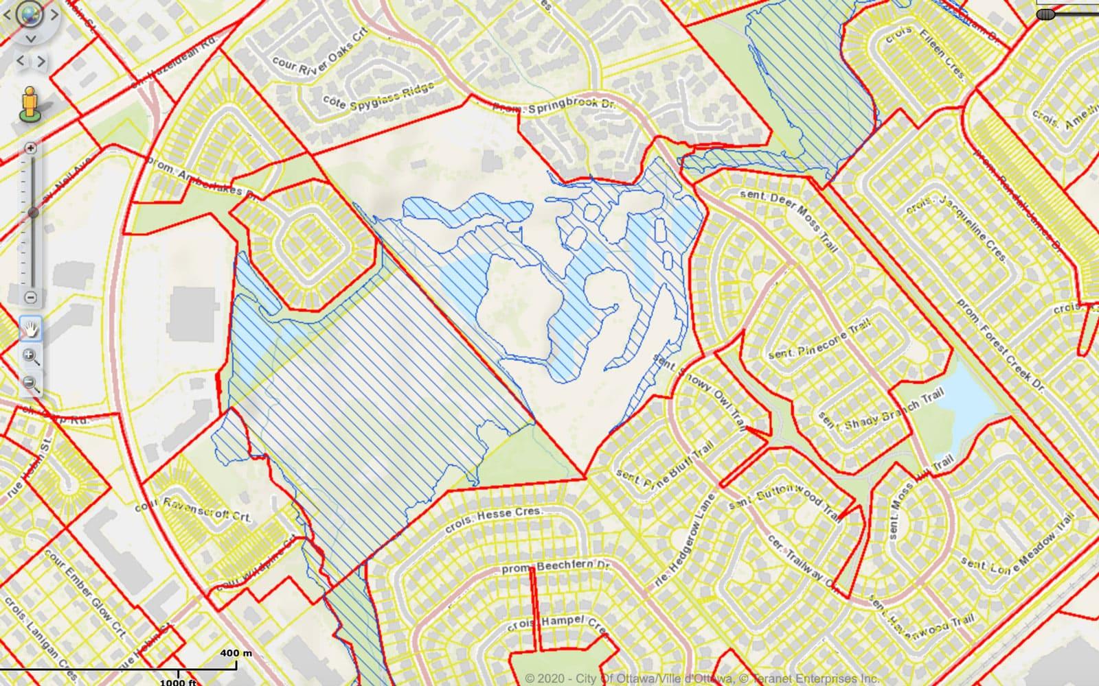 Amberwood Golf Course flood plain map