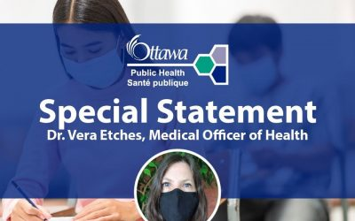 January 12, 2020 – Special statement from Dr. Vera Etches