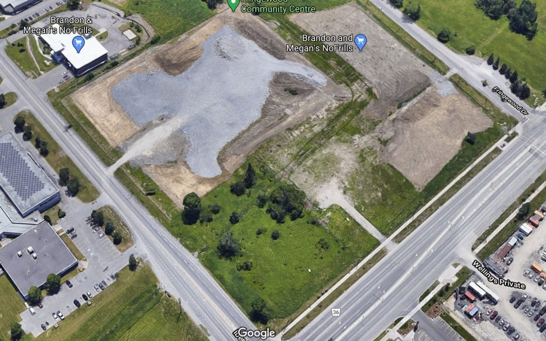 Revised site plan for commercial plaza at Hazeldean and Iber