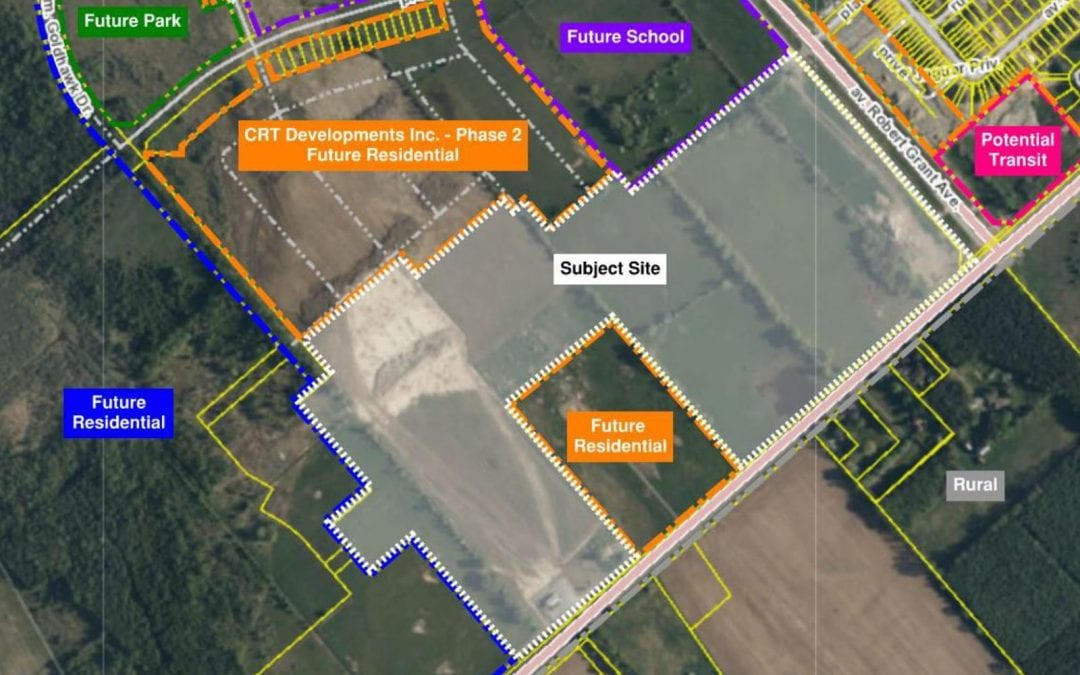 Plan of subdivision and rezoning for 5725 Fernbank
