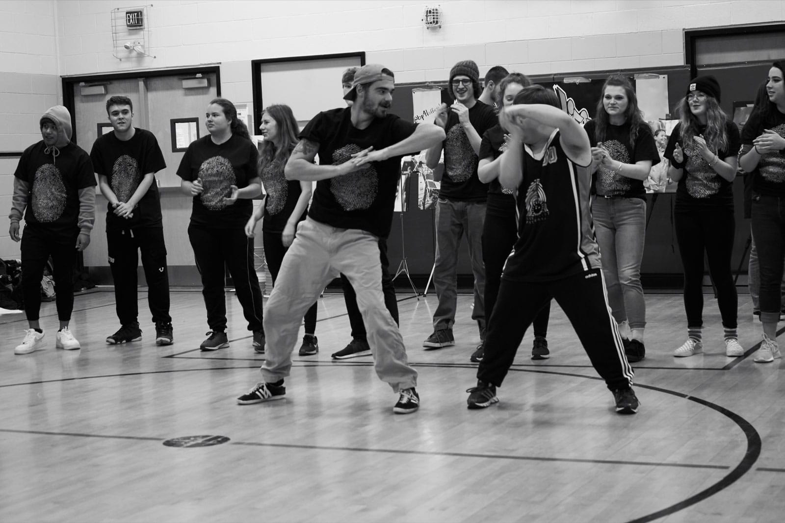 Dancers at a BluePrintForLife workshop at Frederick Banting Alternative School in Stittsville.