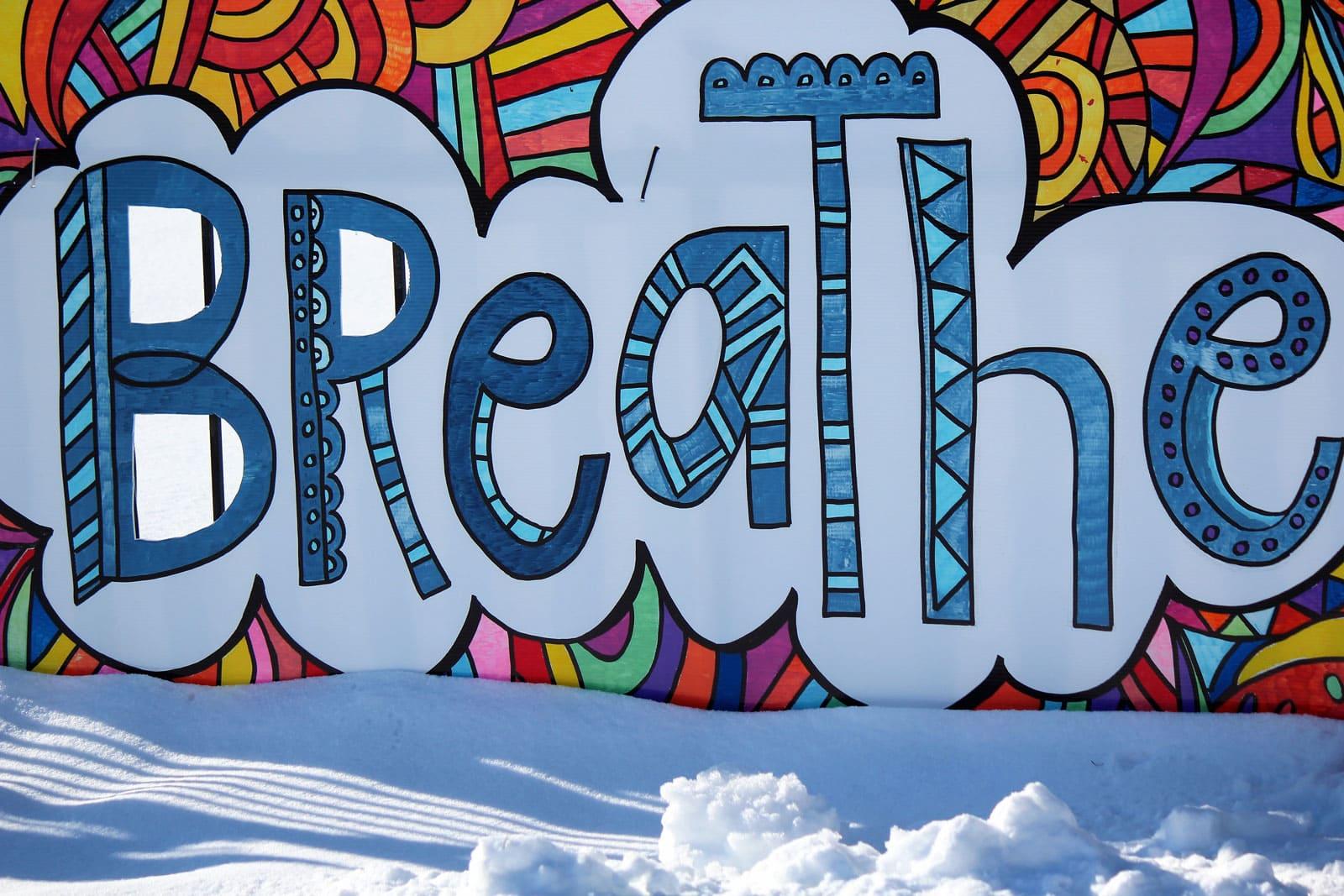 Breathe - Sign at Stittsville United Church