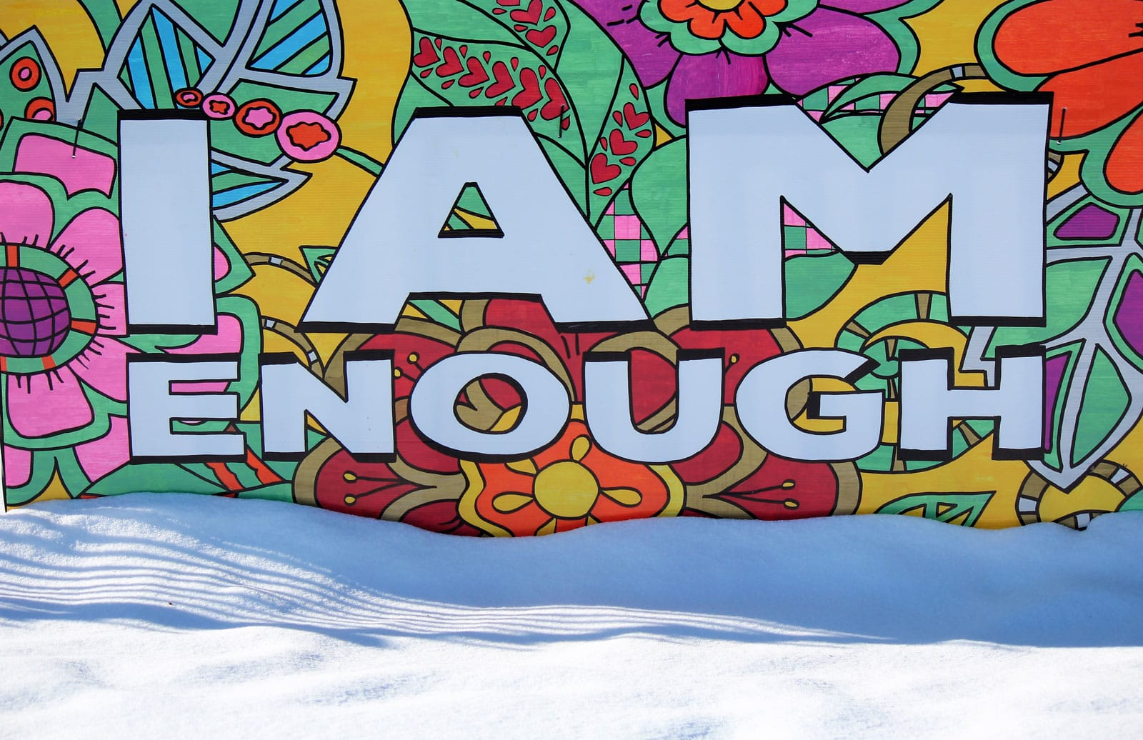 I Am Enough - Sign at Stittsville United Church