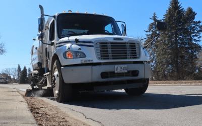 Sign of spring: street sweeping begins
