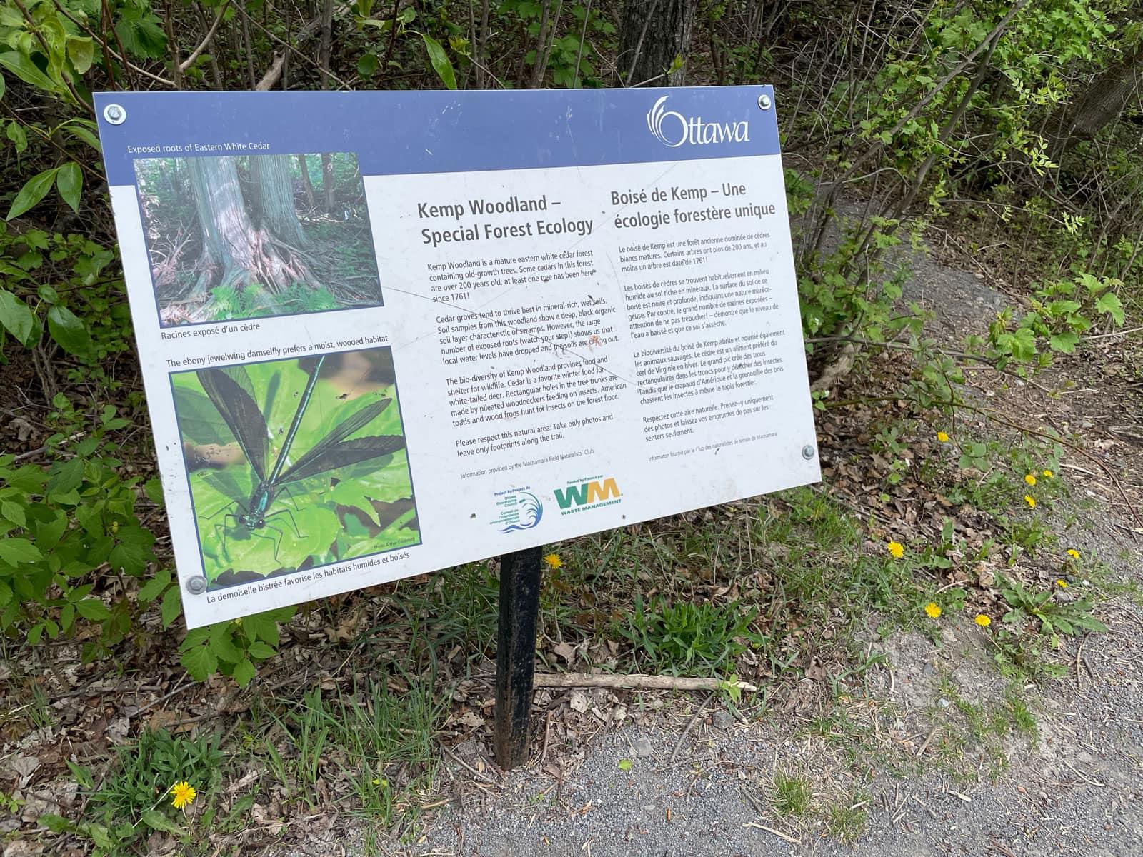 Signage at Kemp Woodland