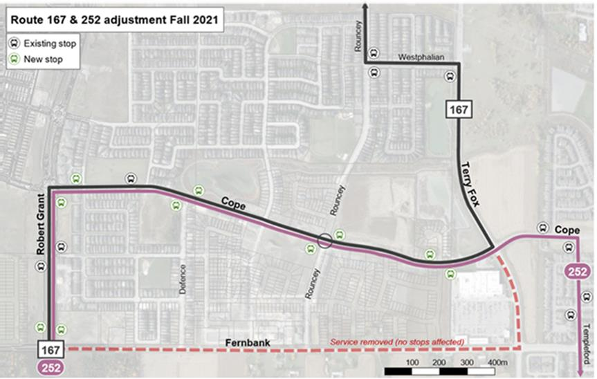 Route changes and improved bus stops this fall