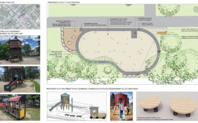 Updated concept for the playground at Village Square Park