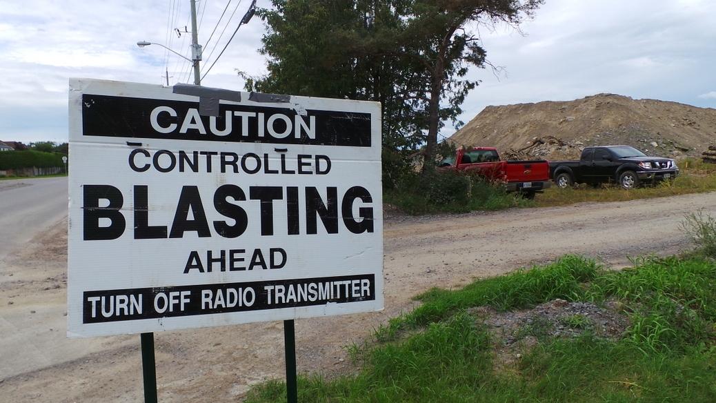 Blasting operations in the Stittsville area