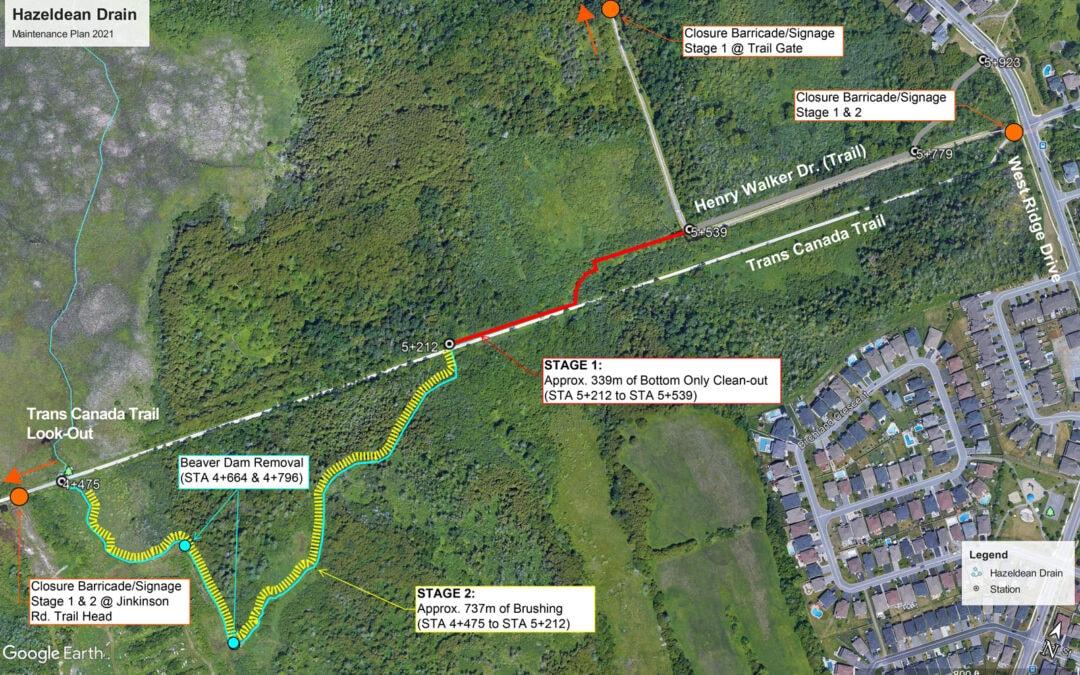 Upcoming maintenance work along the Trans Canada Trail