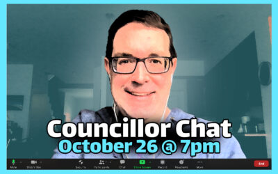 Next online Councillor Chat October 26